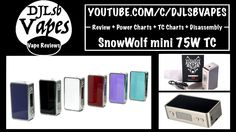 SnowWolf mini 75W TC Review + Power Charts + TC Charts + Disassembly + G...