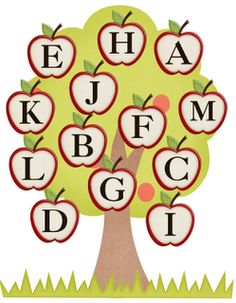 Freebielicious: Fall Leaves Letter Match (best center ever!)