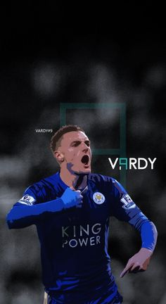 Jamie Vardy - Leicester Football - Soccer Creative Art - wallpaper