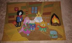 Adventure time! #drawing #painting #winter #adventuretime #marceline #jake #finn #pb #iceking #bmo #snow #princessbubbl egum