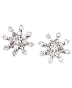 Diamond Earrings, 14k White Gold Diamond Snowflake (1/4 ct. t.w.). Diamond Earrings, 14k White Gold Diamond Snowflake (1/4 ct. t.w.) Jewelry & Watches FINE JEWELRY - Earrings. Price: $199.00