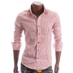 Plaid Checkered Dress Shirt