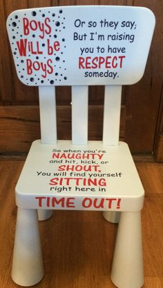 Boy time out chair - JW