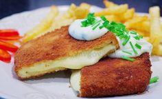 Smažený sýr s česnekovým dresinkem