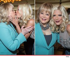 Hey Look! Candy & Tori Spelling – Kiss & Lots of Makeup : Tori and Candy Spelling kiss in caked on make-up as they continue to mend mother daughter relationship.