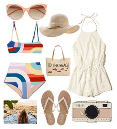 """""""Private Island"""" by waverlyc-1 ❤ liked on Polyvore featuring Hollister Co., M&Co, Style & Co., Linda Farrow and Kate Spade"""