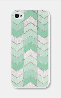 Mint Green Herringbone Chevron iPhone 5 Case