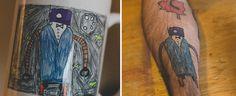 Ce papa se fait tatouer chaque année les dessins de son fils depuis que celui-ci a 5 ans !