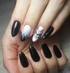 nice 40 Fascinating Ways to Style Black Nails – Topping the Ladder of Elegance