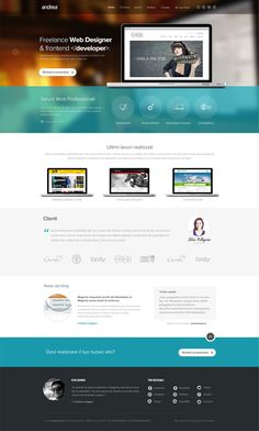 Final Home Page Layout by Andrea Saccà