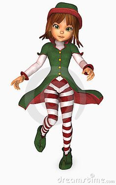 Illustration about illustration of toon girl dressed as an elf for christmas. Illustration of clipart, girl, merry - 6961518