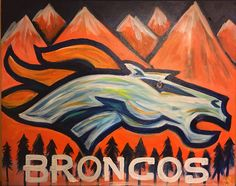 Denver Broncos Painting #canvasesbychloe