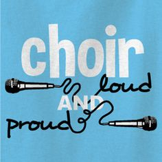 CLUB DESIGNS - OSW | MST Design: BAND200 Be loud and proud! Sing your heart out with this modern choir shirt.