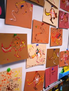 Little Hiccups: Aboriginal Dot Art Activity Aboriginal Symbols, Aboriginal Dot Art, Aboriginal Education, Indigenous Education, Art Education, Naidoc Week Activities, Kindergarten Activities, Infant Activities, Outdoor Activities