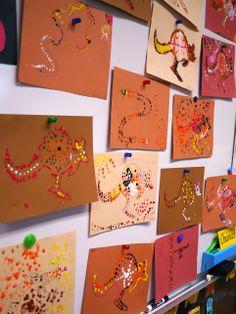 Little Hiccups: Aboriginal Dot Art Activity