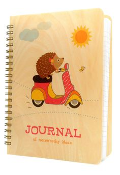 scootin' hedgehog - journal ‹ Journals & Jotters ‹ Gifts & Goodies« Night Owl Paper Goods — Stationery & Wood Goods