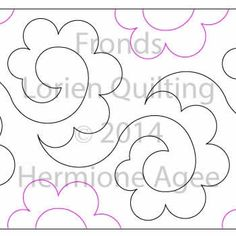 Digital Quilting Design Fronds by Lorien Quilting. Quilting Stencils, Quilting Templates, Longarm Quilting, Free Motion Quilting, Quilting Tutorials, Hand Quilting, Quilting Projects, Quilting Stitch Patterns, Machine Quilting Patterns