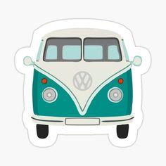 Vw Camper, Vw Bus, Voltswagon Van, Bubble Stickers, Skate, Glossier Stickers, Laptop Stickers, Painted Rocks, Vans