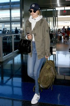 Gigi Hadid | The recipe for getting a supermodel-worthy airport look is simple—and, no, it doesn't require a bodysuit.