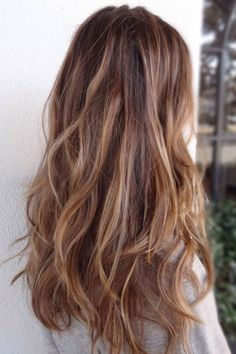Are you already bronde? Here comes the hair color for the summer of 2015 - Haare - Frisuren Cabelo Ombre Hair, Balayage Hair, Brown Balayage, Caramel Balayage, Balayage Color, Auburn Balayage, Honey Balayage, Balayage Brunette, Layered Hair With Bangs