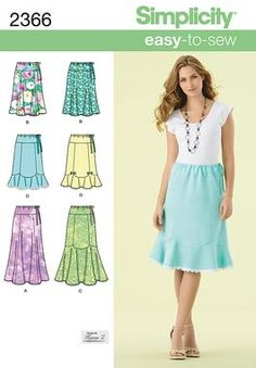 Womens easy to sew skirt Sewing Pattern 2366 Simplicity