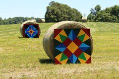 Barn Quilts in the field. ***Possible  new 3' x 3' for barn Moon