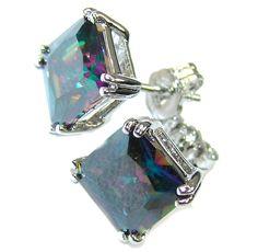 $31.25 Delicate! Magic Topaz Sterling Silver earrings at www.SilverRushStyle.com #earrings #handmade #jewelry #silver #topaz