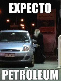 Dumbledore pumping gas