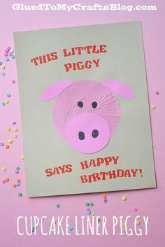 Cupcake Liner Piggy {Kid Craft}