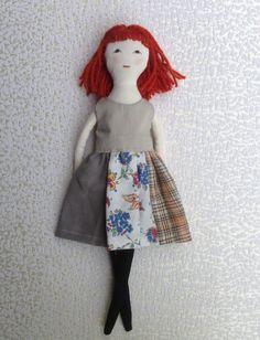 Dress up doll Handmade cloth doll doll set play set by Dollisimo