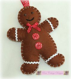 Sew Your Own Gingerbread Man Kit ~ Makes 2, Felt, Christmas, Gift