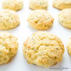 These buttery low carb biscuits with garlic and parmesan are perfect for holiday meals, weeknight dinners, and snacks. Gluten-free and super easy!