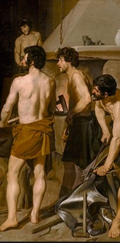 Detail from The Forge of Vulcan by Velazquez