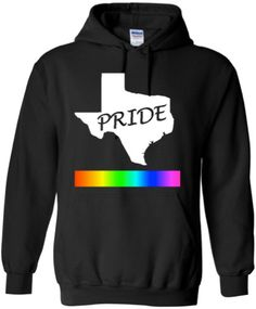 PRIDE HOODIE Texas Pride Unisex Black LGBTQ Gay Gift by ALLGayTees