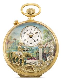 Important Watches - View Auction details, bid, buy and collect the various artworks at Sothebys Art Auction House. Father Time, Jewelry Boards, Van Cleef Arpels, Musicals, Vintage Jewelry, Plating, Auction, Clocks, Gold