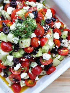 Greek Tomato Cucumber Salad Recipe