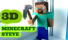 3D Perler Bead Minecraft Steve Figure Craft (FULL TUTORIAL)