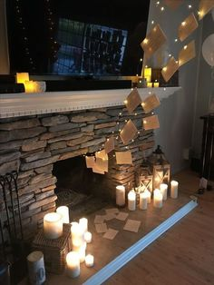 Harry Potter themed birthday party fairy lights and printable Harry Potter letters