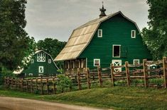 Beautiful green barns in Orange County, VA  by Mark Summerfield photography