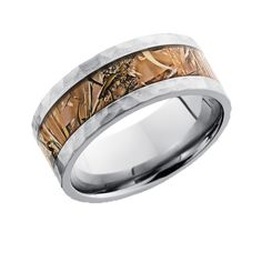 Kings Field Camo Wedding Ring with Hammered Finish - Camo Rings Direct Camo Wedding Rings, Camo Rings, Wedding Ring For Him, Wedding Bands, Wedding Stuff, Camouflage Wedding, Dream Wedding, Wedding Ideas, Titanium Jewelry