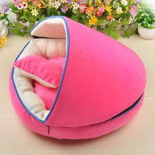 Dog Cat Bed Half-fox Pet House Kennel Doggy Warm Cushion basket set 3 color