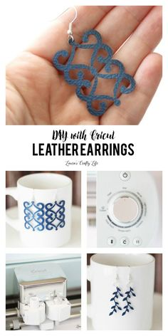 DIY Leather Earrings. Learn how to create your own custom leather earrings easily with the Cricut Explore. You can customize the design, style, and color.