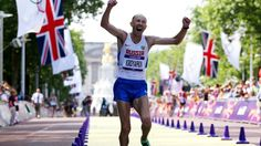 Russia's Sergey Kirdyapkin set a new Olympic record in winning the men's 50km walk at London 2012.