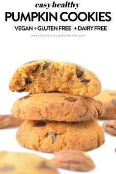Vegan Dessert Recipes, Vegan Snacks, Dairy Free Recipes, Desert Recipes, Diet Desserts, Paleo Vegan, Flour Recipes, Vegan Sweets, Healthy Sweets