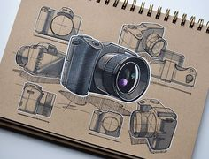 A few sketches for a small DSLR camera design. This one took longer than expected - all those ellipses... #industrialdesign #id #productdesign #design #designer #designsketching #idsketching #sketch #sketchbook #sketching #sketches #drawing #pen #marker #render #tonedpaper #instasketch #instadesign #sketchoftheday #camera #dslr #photography