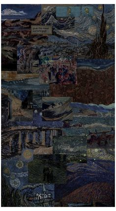 van gogh paintings wallpaper aesthetic
