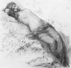 Elfin Dreams by Carl Gerths, 1893 Figure Painting, Painting & Drawing, Realism Art, Chiaroscuro, Life Drawing, Art History, Cool Art, Sketches, Fine Art