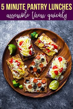 Get creative with these 5 minute pantry lunches! Assembled on crispbreads, they are ready in 5 minutes and made with pantry-friendly ingredients. #sweetpeasandsaffron #crispbread #5minutes #easylunch #simpleingredients #pantrystaples Vegetarian Meal Prep, Lunch Meal Prep, Meal Prep Bowls, Vegetarian Recipes Easy, Healthy Recipes, Favourite Pizza, My Favorite Food, Best Lunch Recipes, Amazing Recipes
