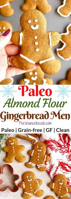 Paleo Almond Flour Gingerbread Men Cookies (GF) | Perchance to Cook, www.perchancetocook.com