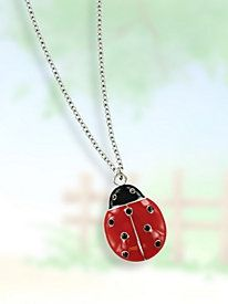 This small, simple charm makes a fetching necklace! Lady Bug Pendants are so cute!